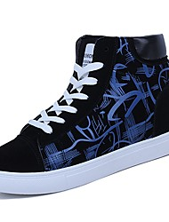 cheap -Men's Shoes PU Spring Fall Comfort Sneakers Null Null / For Casual Black/White Black/Red Black/Blue