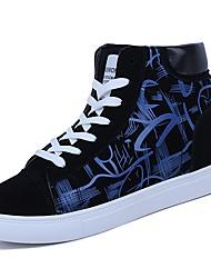 economico -Per uomo PU (Poliuretano) Primavera / Autunno Comoda Sneakers Zero Zero Bianco / nero / Nero / Rosso / Black / Blue