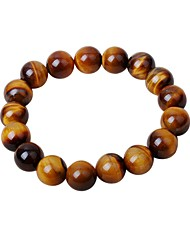 cheap -Men's Strand Bracelet Onyx Cartoon Hiphop Agate Circle Jewelry For Gift Date