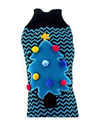 Cane Maglioni Abbigliamento per cani Natale Natale Blu Costume Per animali domestici