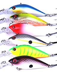6 pçs Iscas Manivela g/Onça mm polegada Pesca de Isco