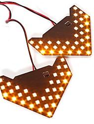 2pcs Car-styling Turning Signal Light Lamp Yellow/Blue/Green/Red Car LED Turn Indicators 33 SMD Arrow Shape Universal Side Mirror DC12V