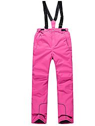 abordables -Phibee Mujer Pantalones de Esquí Templado, Impermeable, Resistente al Viento Esquí Poliéster Pantalones / Sobrepantalón Ropa de Esquí