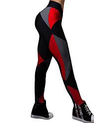 Damen Mittel Einfarbig Bedruckt Legging