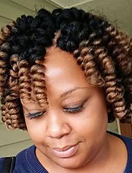 cheap -Bouncy Curl curls Bouncy Curl synthetic Crochet Braids Hair Extensions Kanekalon Hair Braids crochet hair 20roots/pack 5packs make one head