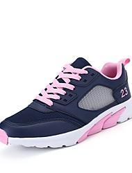 Feminino Sapatos Couro Ecológico Outono Conforto Solados com Luzes Tênis Corrida Para Atlético Roxo Rosa claro Preto / verde