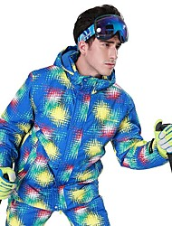 Phibee Men s Ski Jacket Waterproof Windproof Warm Ski   Snowboard Polyester Jacket  Ski Wear aa4cf6783