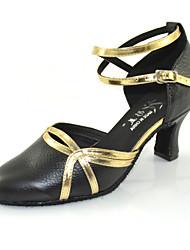 Women's Modern Nappa Leather Heel Indoor Buckle High Heel Black 1.97 in (5cm) 2.36 in (6cm) 2.76 in (7cm) Customizable