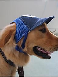Недорогие -Кошка Собака Шляпы, колпаки, банданы Одежда для собак Буквы и цифры Кофейный Синий Другие материалы Костюм Для домашних животных На