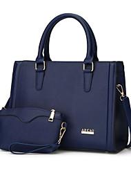 preiswerte -Damen Taschen PU Bag Set 2 Stück Geldbörse Set Reißverschluss Rote / Beige / Fuchsia