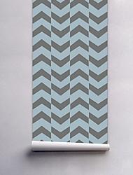 Geométrica Papel de Parede Para Casa Moderna Revestimento de paredes , PVC/Vinil Material Auto-adesivo papel de parede , Cobertura para