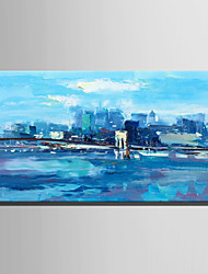 cheap -Hand-Painted Landscape Horizontal,Rustic Modern One Panel Canvas Oil Painting For Home Decoration