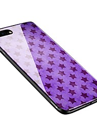 baratos -Capinha Para Apple iPhone X iPhone 8 Plus Estampada Capa traseira Azulejo Macia Vidro Temperado para iPhone X iPhone 8 Plus iPhone 8