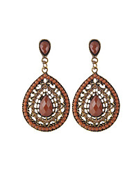 cheap -Women's Drop Earrings Synthetic Tanzanite Rhinestone Casual Fashion Crystal Resin Alloy Drop Jewelry For Daily Going out