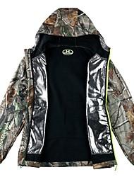 Недорогие -Водонепроницаемая куртка для охоты Муж. С защитой от ветра / Дожденепроницаемый камуфляж Жакет Длинный рукав для