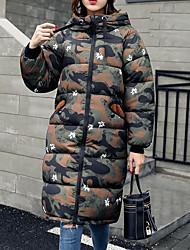 Dámské S vycpávkou Aktivní Jdeme ven Běžné/Denní maskování-Kabát Polyester Dlouhý rukáv