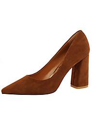abordables -Femme Chaussures Daim Printemps Eté Confort Nouveauté Chaussures à Talons Bout pointu pour Mariage Soirée & Evénement Gris Rouge Rose