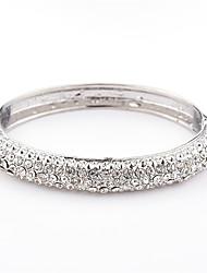 Žene Široke narukvice Umjetno drago kamenje Moda Kristal Legura Geometric Shape Jewelry Za Dnevno Kauzalni