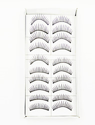 cheap -1 Eyelashes lash Full Strip Lashes Eyelash Natural Long Natural Machine Made Fiber Black Band 0.10mm
