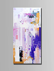 billige -Hang-Painted Oliemaleri Hånd malede - Abstrakt Abstrakt Lærred