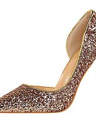 preiswerte -Damen Schuhe Glanz Frühling Herbst Pumps High Heels Spitze Zehe Für Kleid Party & Festivität Gold Schwarz Silber Rot