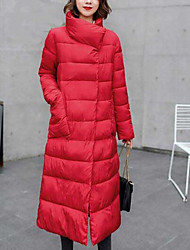 cheap -Women's Padded Coat,Casual Daily Solid-Polyester Long Pant