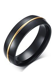 billige -mænds vintage elegante titanium stål forgyldte cirkel smykker til bryllup aften fest