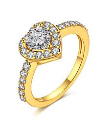 preiswerte -Damen Kristall Zirkon / Aleación Bandring - 1 Kreisform Klassisch / Modisch Gold / Silber Ring Für Hochzeit / Party / Halloween