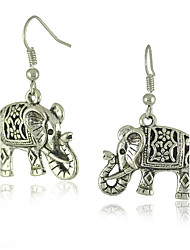 economico -Per donna Orecchini a goccia Semplice Essenziale Lega Con elefante Gioielli Per Quotidiano Per uscire