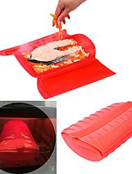 Недорогие -силиконовый паровой кейс для микроволновой печи без сливного лотка