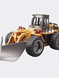 baratos -Carro com CR HUINA 586 2.4G Veiculo de Construção Escavadora 1:18 10 KM / H Controlo Remoto Recarregável Elétrico