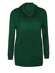 preiswerte -Damen Arbeit Langarm Pullover-Solide Rollkragen