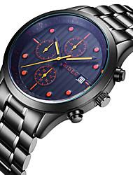 cheap -Men's Casual Watch Fashion Watch Quartz Calendar Stainless Steel Band Luxury Casual Cool Black