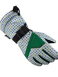 preiswerte -Skihandschuhe Damen Vollfinger warm halten Wasserdicht Windundurchlässig Atmungsaktiv Nylon Skifahren Winter
