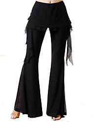 cheap -Ballroom Dance Bottoms Women's Performance Ice Silk Pleated High Pants