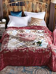 Недорогие -Коралловый флис, Активный краситель Цветочный принт Акриловые волокна одеяла