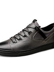 abordables -Homme Chaussures Similicuir Cuir Printemps Automne Confort Basket Marche pour Décontracté Noir Gris