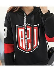Women's Sports Holiday Hoodie Print Hooded Micro-elastic Faux Fur Long Sleeve Winter