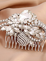cheap -Rhinestone Alloy Hair Combs Flowers with Crystal 1pc Headpiece