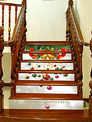 Недорогие -Рождество Мода Пейзаж Наклейки 3D наклейки Декоративные наклейки на стены,Винил Украшение дома Наклейка на стену For Стена