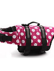 Cachorro Colete Salva-Vidas Roupas para Cães Incrustado De Bolinhas Amarelo Fúcsia Vermelho Rosa claro Ocasiões Especiais Para animais de