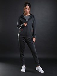 cheap -Women's Tracksuit Long Sleeves Breathable Sweat-wicking Tracksuit for Running/Jogging Fitness Cotton Polyster Black Grey S M L XL XXL