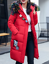 Women's Padded Coat,Casual Daily To-Go Solid-Cotton Long Sleeves