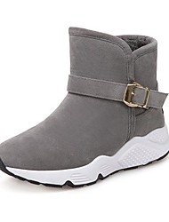 cheap -Women's Shoes Suede Winter Snow Boots Boots Round Toe Mid-Calf Boots For Casual Gray Black