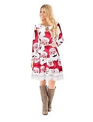 preiswerte -Weihnachtsmann Einteilig Kleid Weihnachtskleid Fest / Feiertage Halloween Kostüme Rot