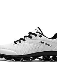 baratos -Homens sapatos Tule / Courino Outono / Inverno Inovador Tênis Preto / Vermelho / Verde