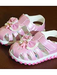 abordables -Chica Zapatos PU Primavera Verano Confort Primeros Pasos Sandalias Para Casual Blanco Rosa