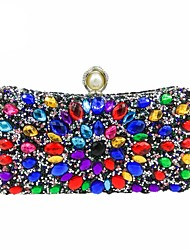 cheap -Women's Bags Polyester Evening Bag Crystals / Pearls Gold / Black / Silver