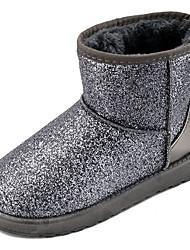 Damen Schuhe PU Winter Komfort Stiefel Für Sport & Natur Schwarz Grau Rosa