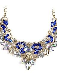 baratos -Mulheres Pingentes - Clássico, Fashion Branco, Azul Escuro Colar Para Noivado, Cerimônia / Gema